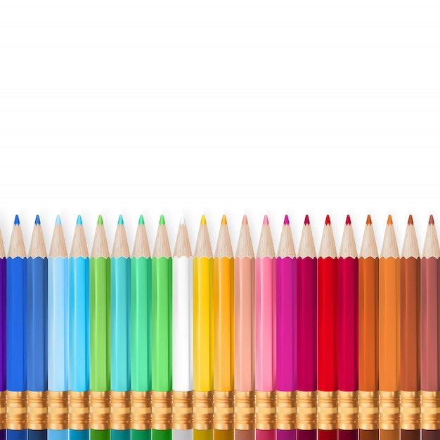 Voltar para a escola - lápis de arco-íris.