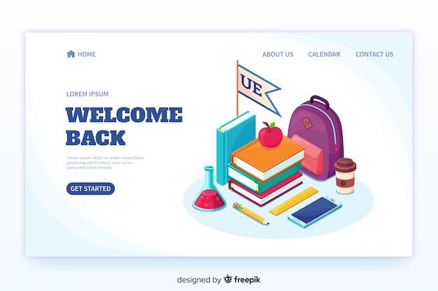 Voltar para a página de destino da escola