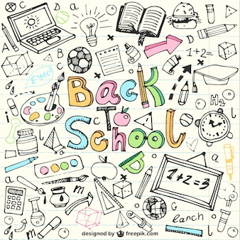 Voltar para desenhos escolares em notebook