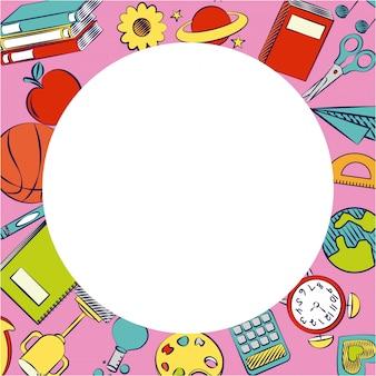 Voltar para material escolar e elementos