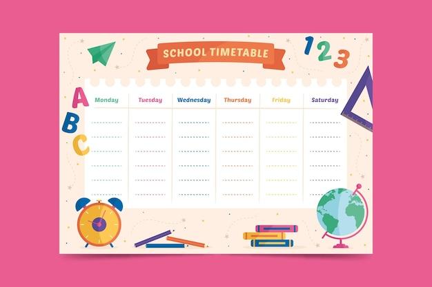 Voltar para o modelo de escola para calendário