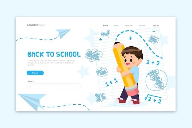 Voltar para o modelo de página de destino da escola