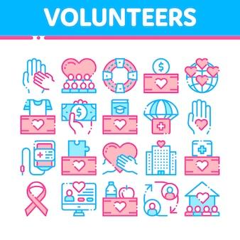 Voluntários apoiam