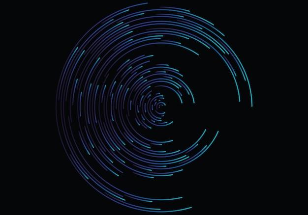 Vortex geométrico abstrato, linhas circulares do redemoinho