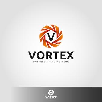 Vortex - letra v modelo do logotipo