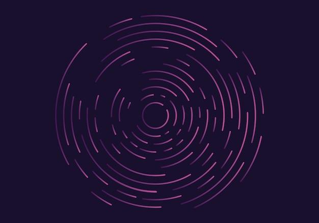 Vórtice geométrico abstrato