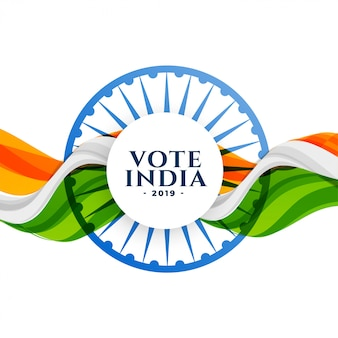 Votar fundo de eleição de india com bandeira