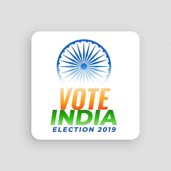 Vote india election 2019 conceito de design