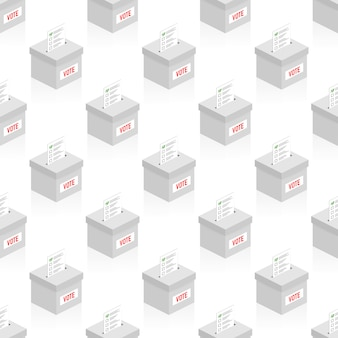 Voto. caixa de eleição branco sem costura padrão vector repetir para qualquer uso.