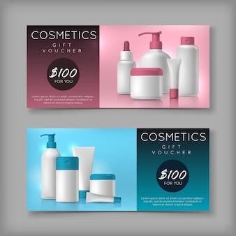Voucher de venda de cosméticos
