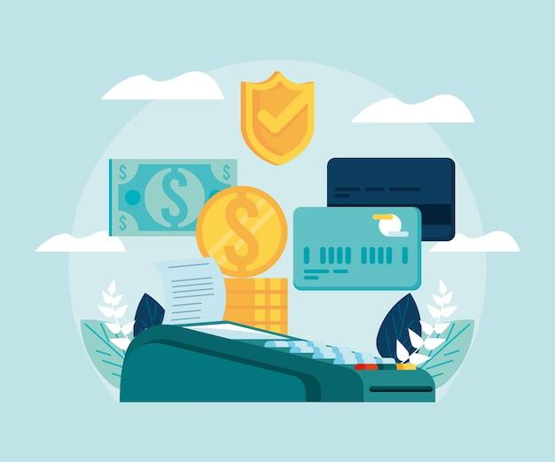 Voucher e cartões de crédito