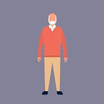 Vovô de comprimento total avô de homem sênior