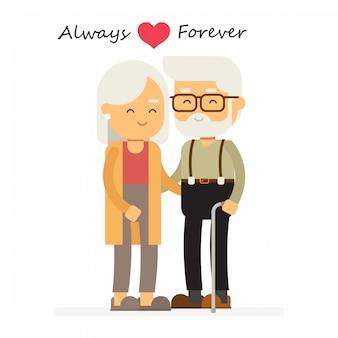 Vovô e avó dos desenhos animados