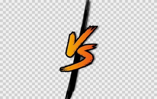 Vs. contra o logotipo da carta. batalha vs partida, jogo