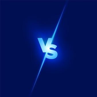 Vs design. conceito de batalha. lute contra a concorrência. contra o conceito.