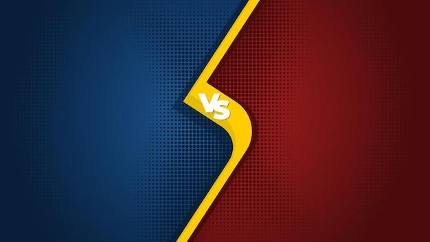 Vs versus fundo e banner para comparação de produtos ou modelo de batalha esportiva