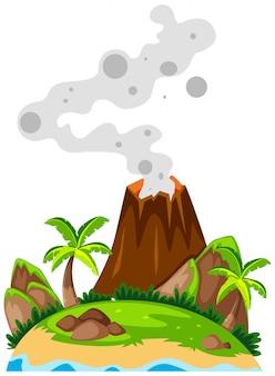 Vulcão na ilha