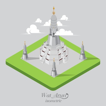 Wad arun templo isométrico