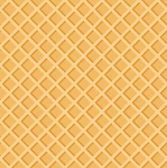 Waffles crocantes de textura perfeita de verão