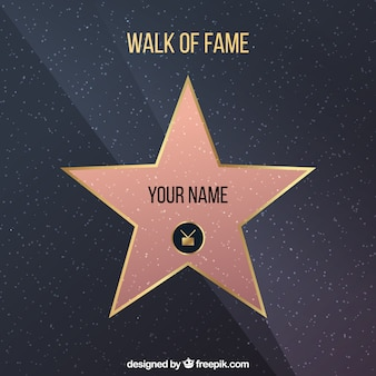 Walk of fame star background