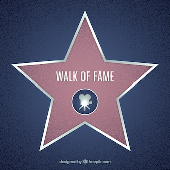 Walk of fame star background