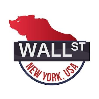 Wall street new york bear
