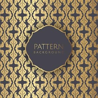 Wallpaoer de padrão sem emenda de estilo decorativo de damasco
