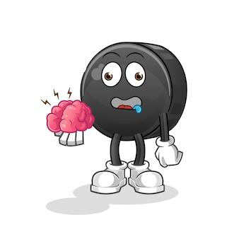 Walnut sem cérebro personagem de desenho animado