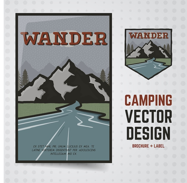 Wander outdoor illustration