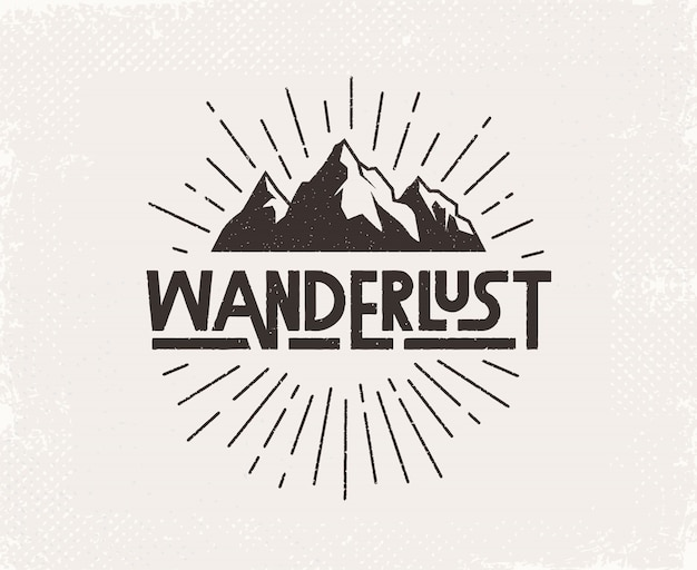 Wanderlust mão escrita letras