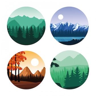 Wanderlust paisagens dos desenhos animados