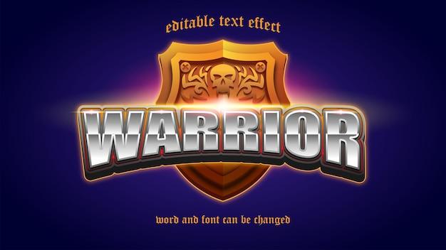 Warrior esport logo gaming efeito de texto editável