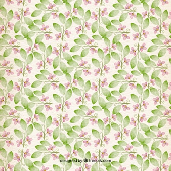 Watercolor patern floral