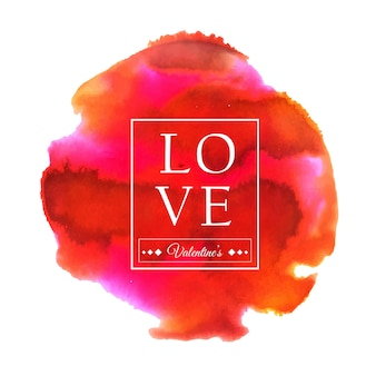 Watercolor valentine splatter designs
