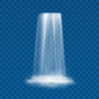 Waterscape fluindo de riachos cachoeira ilustração realista em fundo transparente
