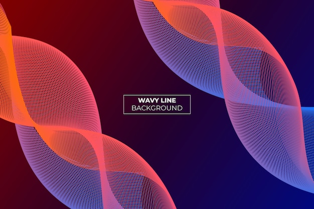 Wavy lane gradient abstract background laranja e azul