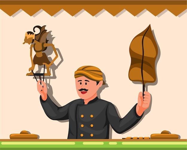 Wayang é um show de marionetes de couro tradicional de javanês