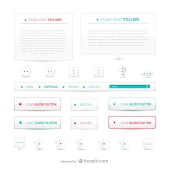 Web botões minimalistas