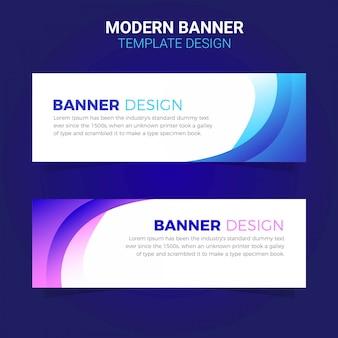 Web de modelo de banner simples empresarial moderno
