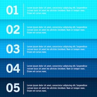 Web design abstrato, base de progresso / escolha de produto ou versões
