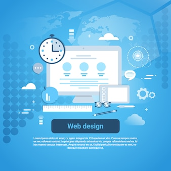 Web design banner de conceito gráfico de programação