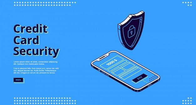 Web design com segurança de cartão de crédito, telefone e robô