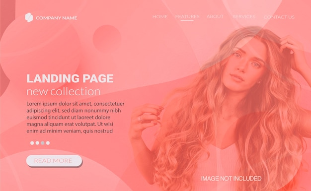 Web design de banner para página de destino de vendas