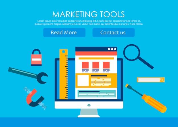 Web design e banner de desenvolvimento