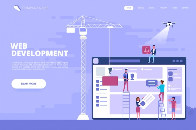 Web design e conceito de desenvolvimento de aplicativos