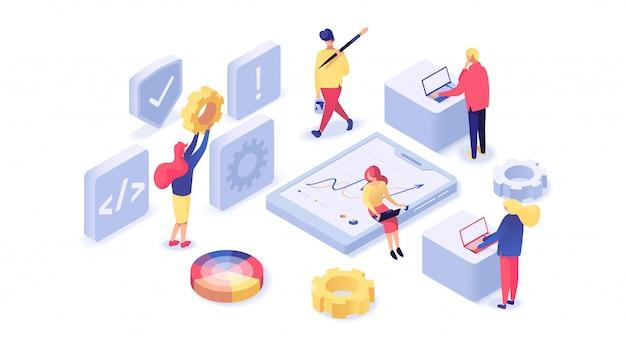 Web design e desenvolvimento isométrico