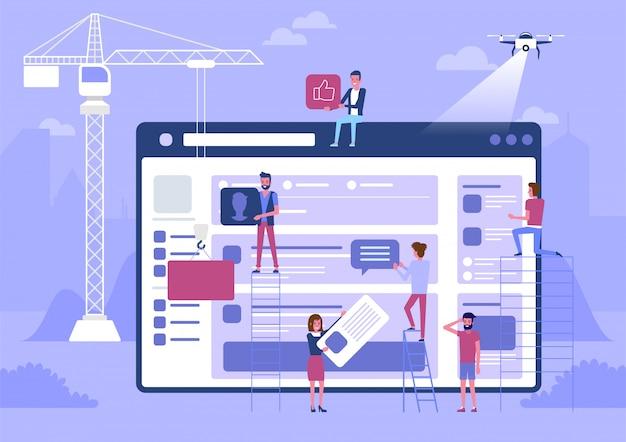 Web design e desenvolvimento.