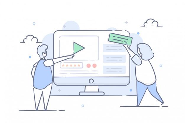 Web design ilustração