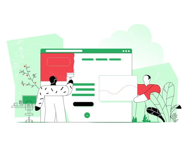 Web designer planejamento visual design para projeto web