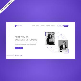 Web moderna de produtos de página única página inicial de destino